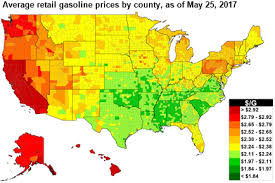 map us gas prices gasoline prices ahead of memorial day are higher than 2016 but