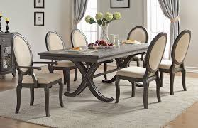 Dining Tables Grey Dining Table Set Rustic Dusty Grey Finish