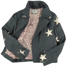 biker jacket star printed leather biker jacket scotch u0026 soda for girls