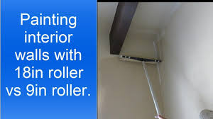 painting interior walls faster 18 inch paint roller vs 9 inch