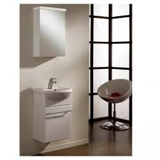 45 Bathroom Vanity by Spazio 45 Compact Bathroom Vanity Set With Mirror Cabinet