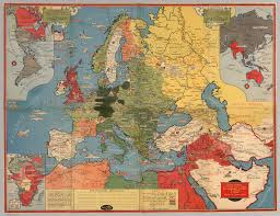 Eastern Hemisphere Map Dated Events World War Map By Stanley Turner A R C A Printed In