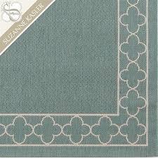 adorable suzanne kasler quatrefoil border indoor outdoor rug
