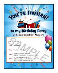 sample birthday invitation u2013 gangcraft net