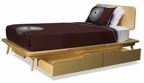 Modern Bed Frame With Storage Bedroom Remarkable Wooden Bed Frames With Storage And Modern Look