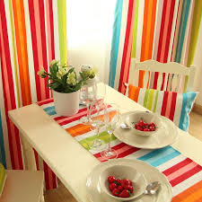 colorful bedroom curtains rainbow colorful cotton striped curtains for living room or bedroom