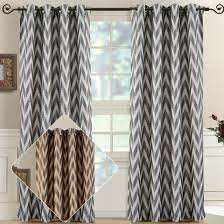 Grommet Chevron Curtains 60 Off Lisette Chevron Curtain Panels With Grommets 108 Inch Wide