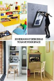 Office Wall Organization System by 20 Hideaway Desk Ideas To Save Your Space Shelterness