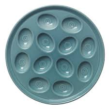 fiestaware egg plate egg tray trays fiestas and ware