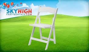 rental folding chairs white garden wedding chair rental sky high party rentals