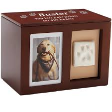 urns for dogs dog urn pet memorial wooden pawprint memory box