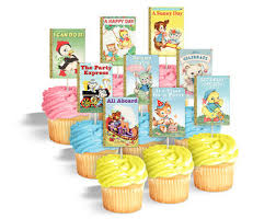 baby shower cupcake toppers printable book themed baby