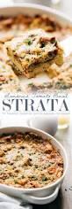 sun dried tomato basil breakfast casserole strata recipe