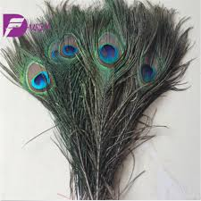 Peacock Feather Centerpieces by Aliexpress Com Buy Wholesale 100 Pcs Natural Long Peacock