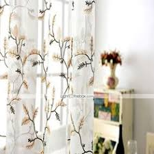 new esparanza copper embroidered sheer curtain curtains