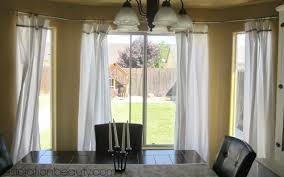 decor bay window curtain rod for window curtains decorating ideas