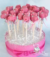 pink peppa pig cake pops smartiebox cake studio smartiebox