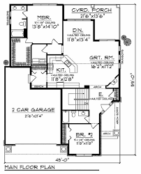 craftsman style house plan 2 beds 2 00 baths 1580 sq ft plan 70