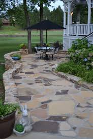 Rock Patio Designs by 47 Best Patios Flagstone Images On Pinterest Backyard Ideas