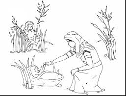 amazing moses kills egyptian coloring page with moses coloring