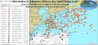 South Padre Island Map Galveston Fishing Mapstexas Fishing Maps And Fishing Spots