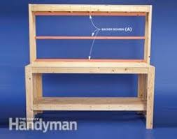 How To Build A Corner Bookcase Step By Step How To Build A Diy Workbench Super Simple 50 Bench Family Handyman