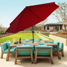 Overstock Patio Umbrella Piqq Garden 10 Foot Aluminum Patio Umbrella With Auto Tilt
