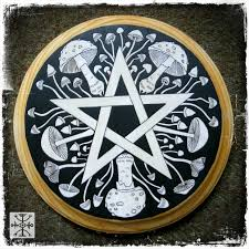 Pentacle Rug Poison In Black And White Sarah Anne Lawless
