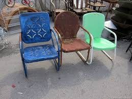 Antique Metal Patio Chairs Painting Metal Lawn Furniture