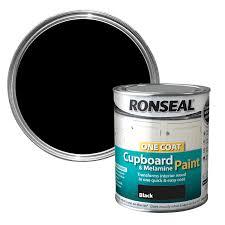 ronseal black gloss cupboard paint 750 ml departments diy at b u0026q