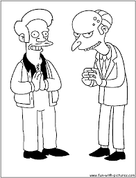 apu burns coloring page