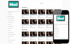 templates for video website mad free video sharing mobile website template