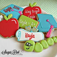 graduation cookies sugar dot cookies graduation cookies