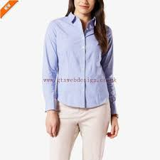 all clothing excellent dockers tailored shirt for women blue