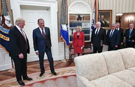 trump in oval office trump told russians in oval office that comey s firing relieved