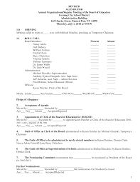 board of directors meeting agenda template 5 best