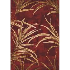 Area Rugs Tropical Milliken Top 30 Area Rugs Tropical Russet Palm Ferns Leaves Rug