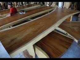 slab dining room table slab dining room furniture solid wood dining table slabs youtube