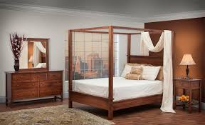 modern shaker style canopy bedroom set