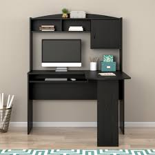 Computer Hutch Desk With Doors by Mainstays L Shaped Desk With Hutch Multiple Finishes Walmart Com