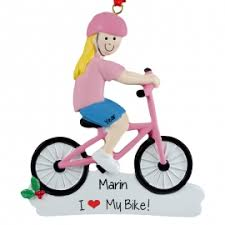pink bike ornament personalized ornaments for you
