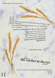 the catcher in the rye quote typed on typewriter catcher
