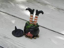 Halloween Hangman Skeleton Game Halloween Miniature Garden Witch Legs Cauldron Terrarium