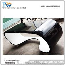 Office Rear View Desk Mirrors Artificial Marble Stone Half Round Office Desk Tops Corian Acrylic