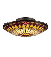 Quoizel Flush Mount Ceiling Light Quoizel Tf1400svb 2 Light 17 Inch Vintage Bronze Flush