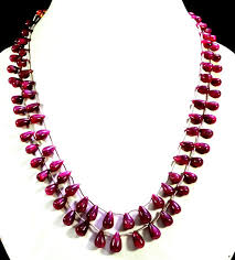 drop beads necklace images 20 best ruby beads necklaces images bead necklaces jpg