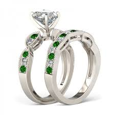 Diamond Sapphire Wedding Ring by Jeulia Milgrain Heart Cut Created White Sapphire Wedding Set 2 81
