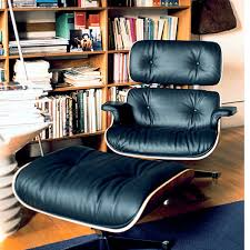 Blue Leather Chair And Ottoman Eames Leather Chair And Footstool Eames Armchair Lcw Chair Eames