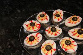 appetizer halloween bloodshot eyeball deviled eggs kath u0027s kitchen sync
