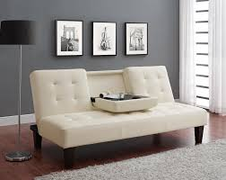 sofa chaise convertible bed dhp furniture julia convertible sofa bed with drink holder